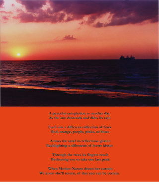 Sunset pic and completion poem copy