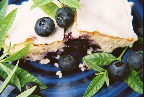 Blueberry White Chocolate Brownies 3