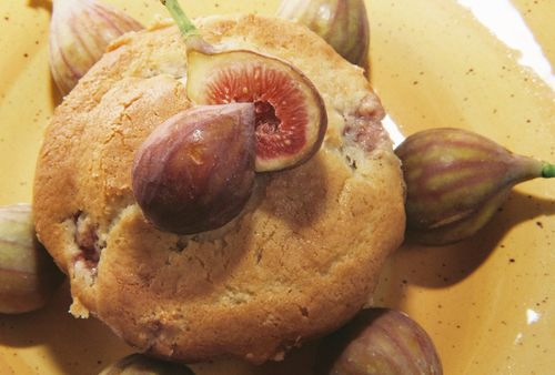 Fresh fig cake with figs