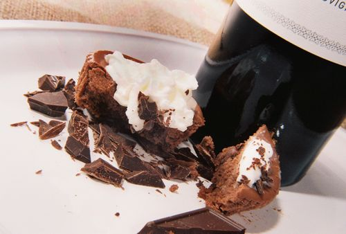 Dark chocolate cabernet cheesecake 2