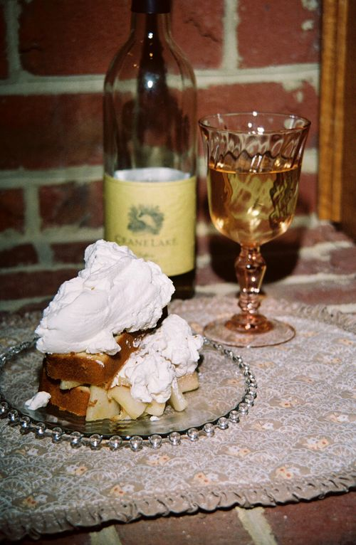 Pound Cake With A Moscato Wine And Pear Syrup