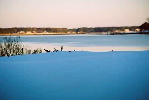 Layered flawless snow scene