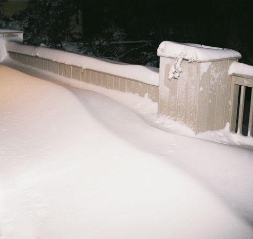 Snow drift on deck