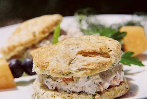 Dill Chive And Chardonnay Chicken Salad On Buttermilk Herb Biscuits 4