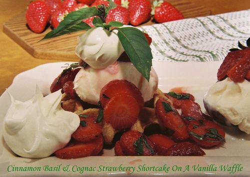 Cinnamon Basil Strawberry Shortcake On Vanilla Waffle 4 copy