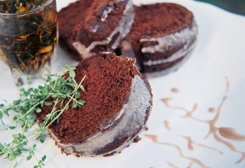 Whiskey Thyme Chocolate Bundt With Red Wine Caramel Glaze 3