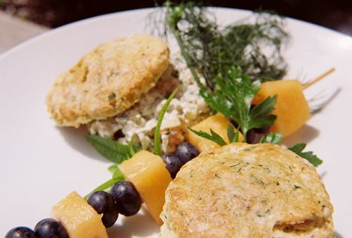 Dill Chive And Chardonnay Chicken Salad On Buttermilk Herb Biscuits 2