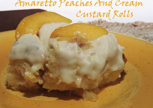 Amaretto Peaches And Cream Custard Rolls 3 copy