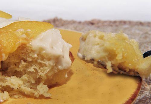 Amaretto Peaches And Cream Custard Rolls 4