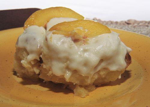 Amaretto Peaches And Cream Custard Rolls 2