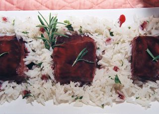Salmon With A Blackberry Pinot Noir Glaze 5