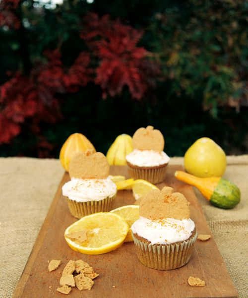 Grand Marnier Molasses Pumpkin Cupcakes With Champagne Ginger Cream Cheese Frosting 3