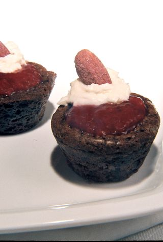 Strawberry Filled Rum And Rose Geranium Brownies With Strawberry Cream Liqueur Frosting 3