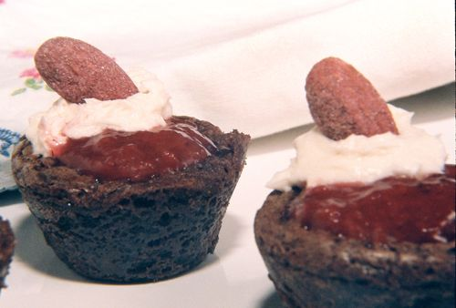 Strawberry Filled Rum And Rose Geranium Brownies With Strawberry Cream Liqueur Frosting 4