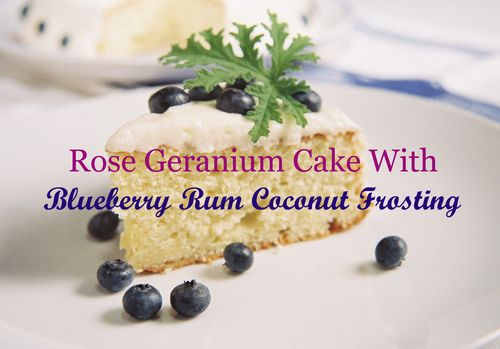 Rose Geranium Cake With Blueberry Coconut Frosting 5 copy