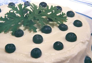 Rose Geranium Cake With Blueberry Coconut Frosting 3