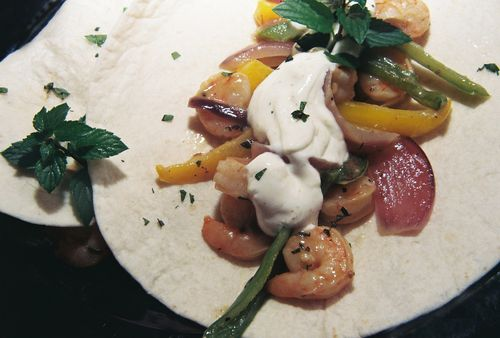 Lime coconut shrimp fajitas 2