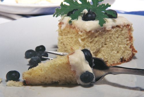 Rose Geranium Cake With Blueberry Coconut Frosting 10