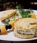 Dill Chive And Chardonnay Chicken Salad On Buttermilk Herb Biscuits 1