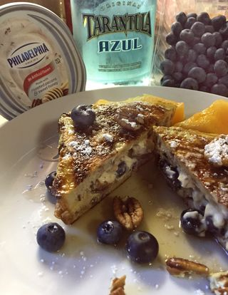 Blueberry Tequila Azul And Pecan Stuffed French Toast 6