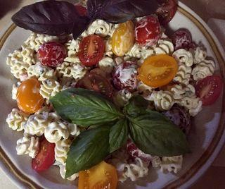 Basil Lemon Verbena Tarragon Pasta Salad With Artisan Tomatoes 1