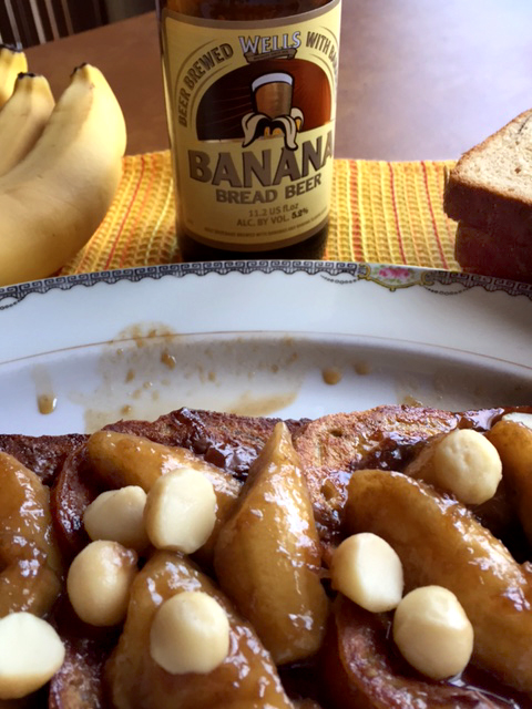 Chocolate Bananas Foster French Toast With Banana Bread Beer Syrup 5