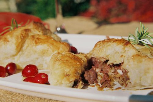 Peppery Steak Cranberry And Walnut Pockets 8