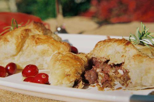 Peppery Steak Cranberry And Walnut Pockets 8