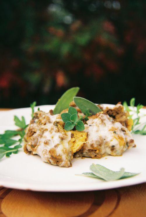 Ground beef pumpkin and sweet potato biscuit casserole 5