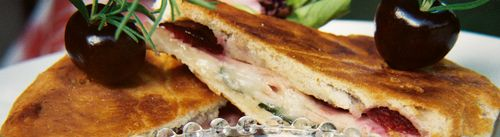 Smoked turkey horseradish cheddar and cherry panini 4