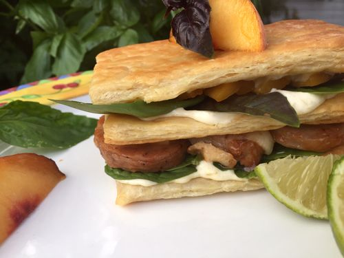 BBQ Pork And Peach Panini With Roasted Hatch Chili And Garlic Mayonnaise 3 19.18.14