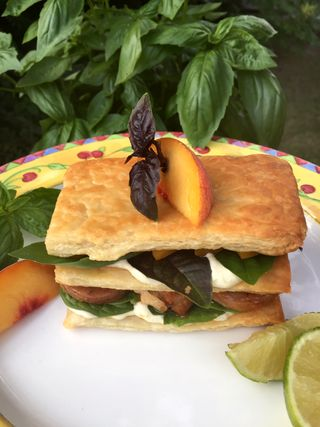 BBQ Pork And Peach Panini With Roasted Hatch Chili And Garlic Mayonnaise 1 19.17.29