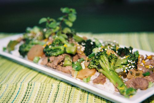 Spicy orange mint and rum beef and broccoli 2