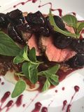Pork Tenderloin With Bourbon Cherry Sauce And Violet Balsamic Onions 5 19.02.47