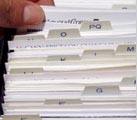 Hand sorting files 38