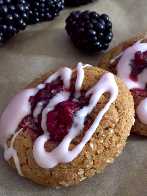 Blackberry Moonshine Molasses Thumbprint Cookies 3