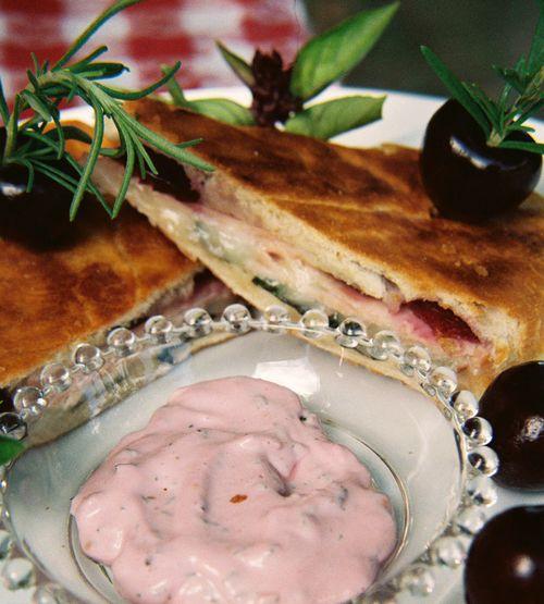 Smoked turkey horseradish cheddar and cherry panini 3