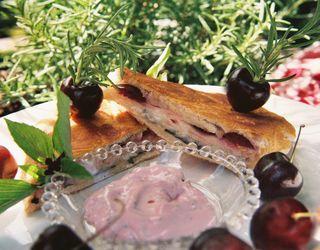 Smoked turkey horseradish cheddar and cherry panini 1