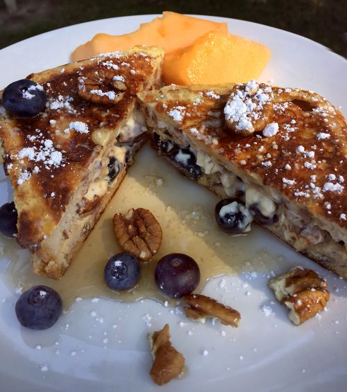 Blueberry Tequila Azul And Pecan Stuffed French Toast 1