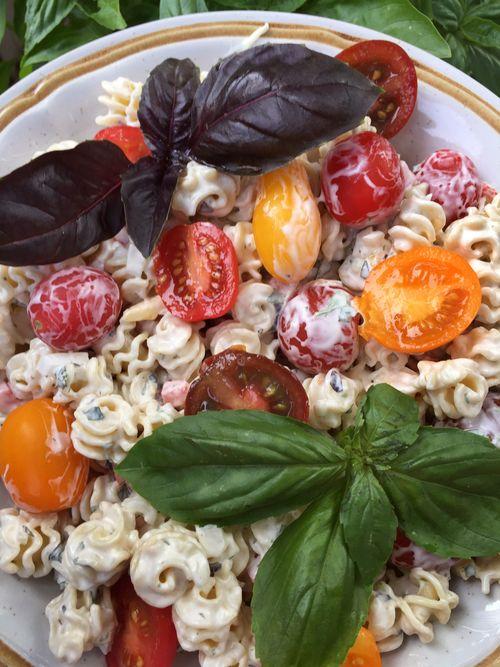 Basil Lemon Verbena Tarragon Pasta Salad With Artisan Tomatoes 4