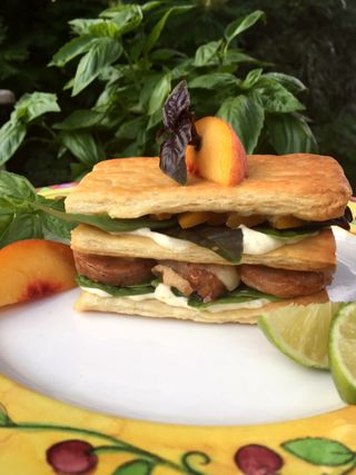BBQ Pork And Peach Panini With Roasted Hatch Chili And Garlic Mayonnaise 2 19.17.52