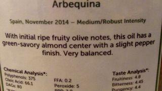 Olive oil for salad