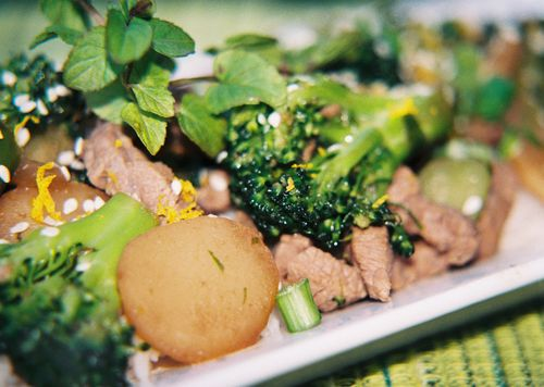 Spicy orange mint and rum beef and broccoli 6
