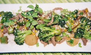 Spicy orange mint and rum beef and broccoli 4