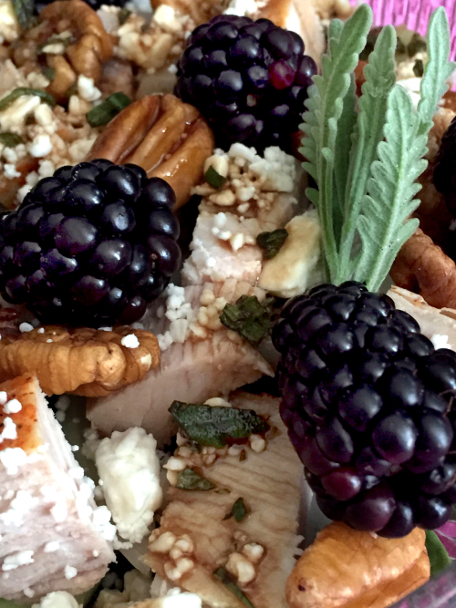Blackberry Turkey Salad With Moonshine Lavender And Violet Balsamic Vinaigrette 3