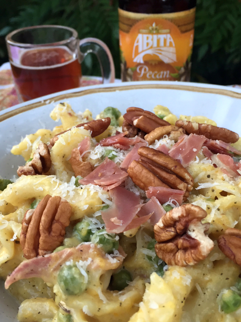 Pumpkin Pasta With Pecan Beer Country Ham And Peas 6