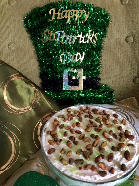 Saint Patrick's Day Chocolate Pound Cake Pistachio Trifle 3