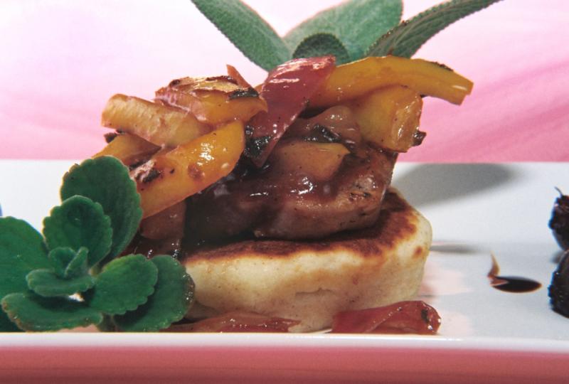 Brandy Plum Pork Tenderloin Buttermilk Corncake 22