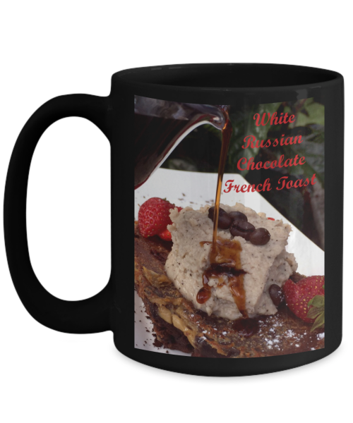 White russian chocolate french toast mug